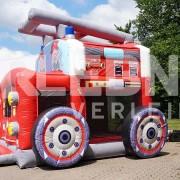 """Die Hüpfburg """"Firefighter"""" ist der Oberkracher für alle kleinen und großen Feuerwehrleute. Wer wollte als Kind nicht Feuerwehrfrau oder Feuerwehrmann werden? Hier kommt der Einsatzwagen für alle Fälle: Unsere Feuerwehr-Hüpfburg """"Firefighter""""!"""
