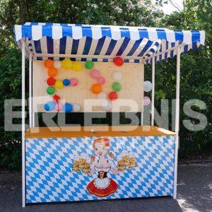 Ballondart mit Marktstand im Oktoberfest-Design von Erlebnisverleih.de