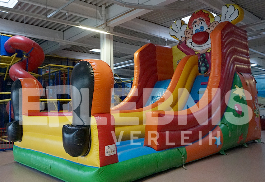 "Hüpfburg Riesenrutsche ""Clown"""