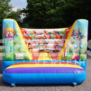 Bunte Clown-Hüpfburg für Kinder