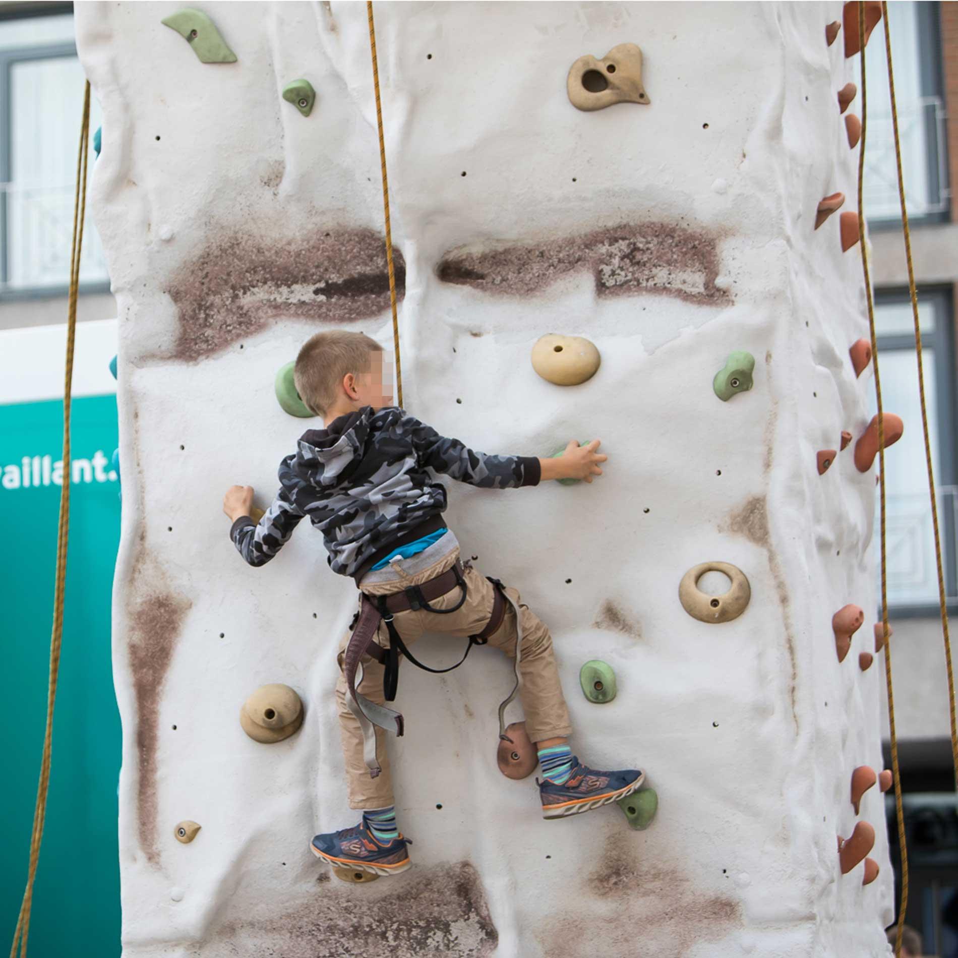 Mobile Kletterwand für Kinder