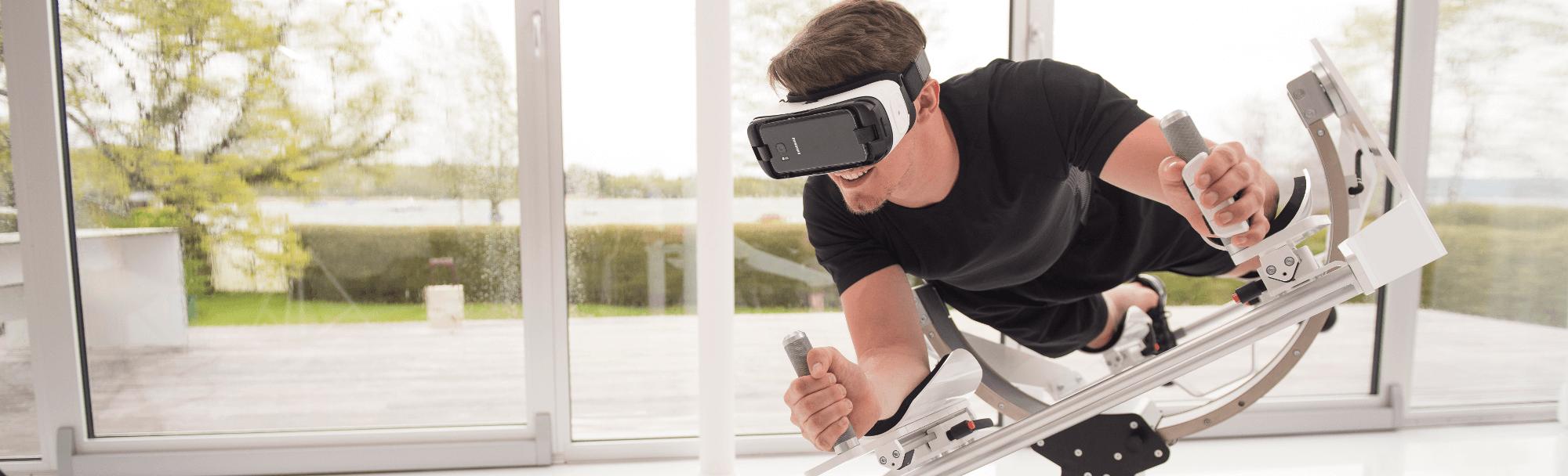 Icaros-Flugsimulator mit VR-Brille